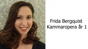 Frida Bergquist, Kammaropera år 1