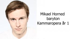 Mikael Horned, baryton Kammaropera år 1